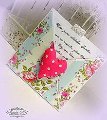 Papiernictvo - Rozkvitnuté srdce - 5609255_