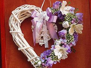 Dekorácie - Veľké fialové srdce - 5611776_