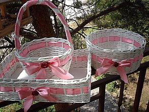 Košíky - Svadba v ružovom.. - 5610164_
