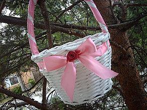 Košíky - Pre družičky - ružový - 5610214_