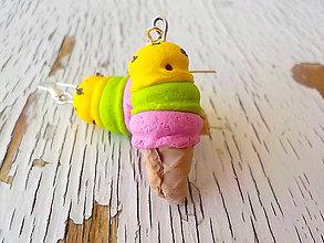 Náušnice - zmrzliny náušnice (3 kopčeková) - 5611878_