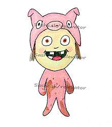 Kresby - Dieťa v kostýme - maľby - 5610958_