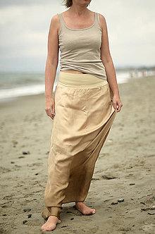 Sukne - Ležérně jednoduchá...dlouhá hedvábná sukně - 5609757_