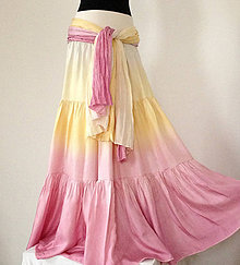 Sukne - Propadla jsem vůni vanilky...dl.hedvábná sukně - 5609841_