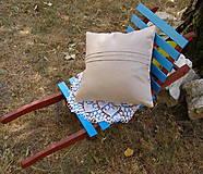Úžitkový textil - vankúš .... rezné plátno III - 5613144_