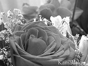 Fotografie - Ruža v kytici B&W - 5613722_