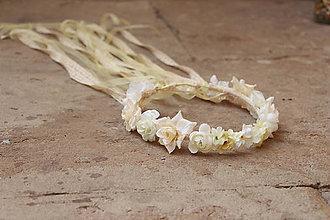 Ozdoby do vlasov - Neha bielych ruží... - 5614384_
