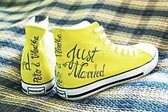 Obuv - svadobné - žlté - 5613486_