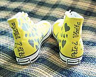 Obuv - svadobné - žlté - 5613487_