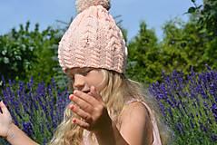 Detské čiapky - Meruňková bambule - 5613534_