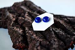 Náušnice - MINI sklenené náušničky - Tmavomodré - 5612845_