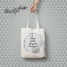 Kabelky - plátená taška s vlastnou potlačou - 5614690_