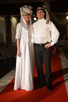 Šaty - Svadobné šaty - s čipkou ..... - 5612825_