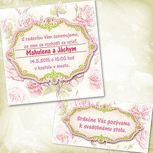 Papiernictvo - Svadobné oznámenie kvetinové - 5613804_