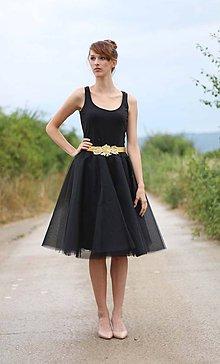 Sukne - MIDI tylová sukňa čierna ..kratšia - 5615555_