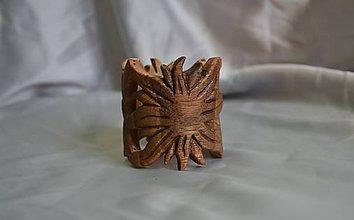 Ozdoby do vlasov - Slnko - Drevená korálka do dredov - 5617422_