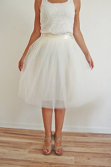 Sukne - Wedding cream - 5617420_