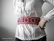 Opasky - Opasok s výšivkou - 5615873_