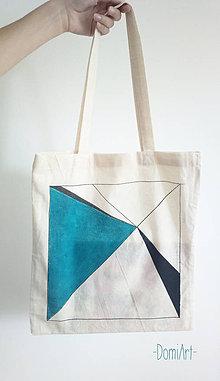 Nákupné tašky - plátená taška _ geometrická - 5617805_