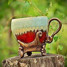 Nádoby - Vzácna - šálka na kávu - 5616826_