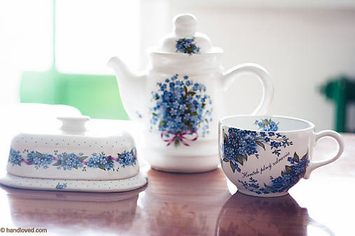 Čajník so šálkou MAXI - nezábudka