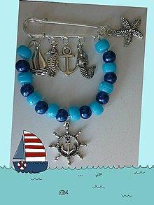 Odznaky/Brošne - Brošnička v námorníckom štýle - 5617382_