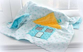 Textil - Letná Baby deka minky MINT 60x70cm - 5621294_