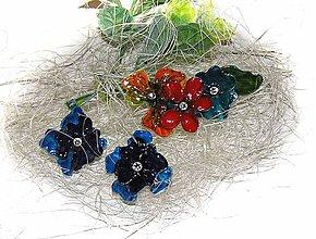 Iné šperky - flowers brošňa a náušnice - 5620804_