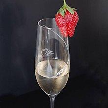 Nádoby - Svadobné poháre na šampanské - labuťky - 5618730_