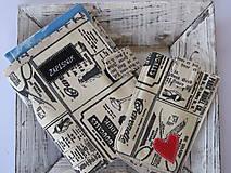 Papiernictvo - Obal na zápisník a mobil- sada - 5618137_