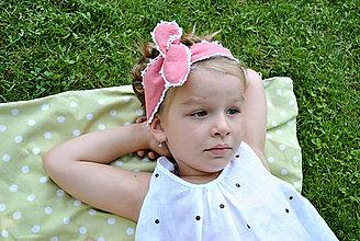 Ozdoby do vlasov - Detská ľanová čelenka - 5621233_