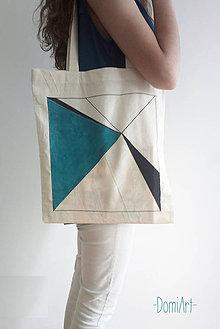 Nákupné tašky - plátená taška _ geometrická - 5619735_