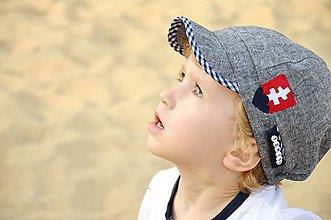 Detské čiapky - ~ hrdý Slovák v cudzine ~ - 5618070_