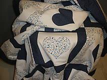 Úžitkový textil - ...modrá srdiečková... - 5620592_