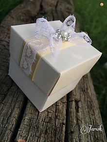 Darčeky pre svadobčanov - Svadobná darčeková krabička - 5621006_