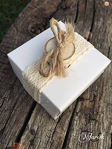 Darčeky pre svadobčanov - Svadobná krabička {Natur} - 5621049_