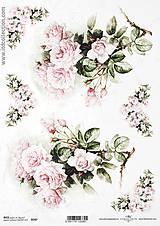 - Ryžový papier Jemné ruže 747 - 5618766_