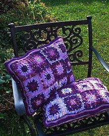 Úžitkový textil - Fialový škovránok...obliečky na vankúše - 5618209_