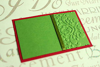 Papiernictvo - Pozvanie k stolu - červeno zelené - 5623221_