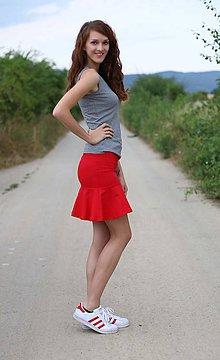 Sukne - Sukňa s  kruhovým volánom ... - 5621596_