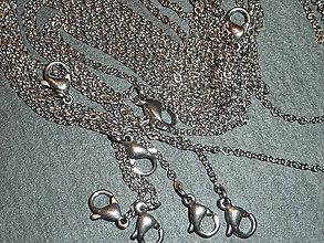 Komponenty - Retiazka na náhrdelník 1 - stainless steel - 1,5x0,2mm - 5622515_