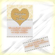 Papiernictvo - Svadobné oznámenie s čipkou 1 - 5622542_