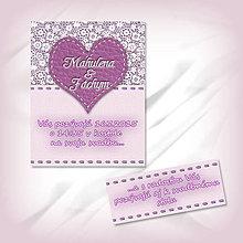 Papiernictvo - Svadobné oznámenie s čipkou 2 - 5623042_