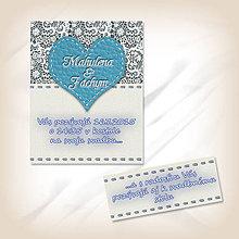 Papiernictvo - Svadobné oznámenie s čipkou 4 - 5623696_
