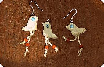 Náušnice - Vtáčiky do uší - 5625965_