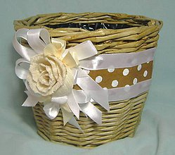 Nádoby - Romantický kvetináč II. - 5625461_