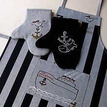 Úžitkový textil - TITANIC - zástěra a chňapky - 5625198_