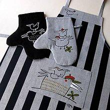 Úžitkový textil - PTAČÍ SNĚM - zástěra a chňapky - 5625210_