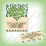 Papiernictvo - Svadobné oznámenie s čipkou - 5624418_