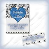 Papiernictvo - Svadobné oznámenie s čipkou 8 - 5625183_